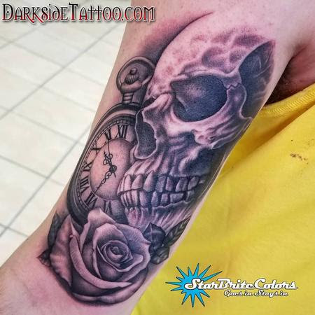 Black And Gray Skull Tattoo By Sean Ohara Tattoos