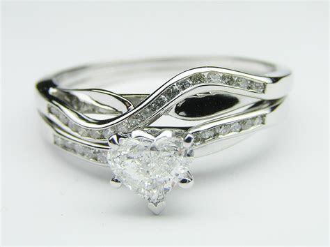 Engagement Ring  Petite Swirl Heart Shape Engagement Ring