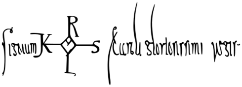 Signature of Charlemagne