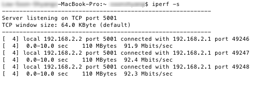 Test 2 - iPerf results