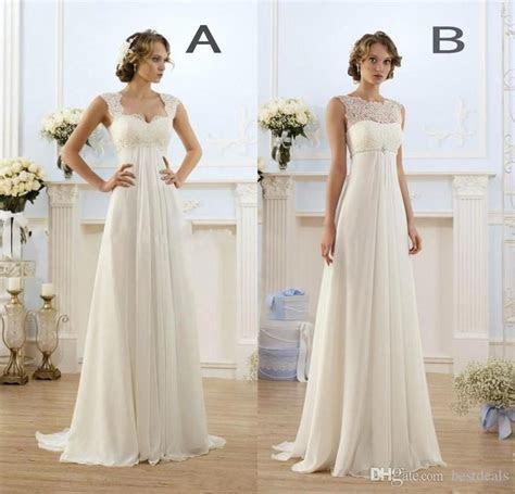 Discount 2017 New Empire Bohemian Wedding Dresses Cheap