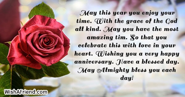 May This Year You Enjoy Your Religious Anniversary Wish