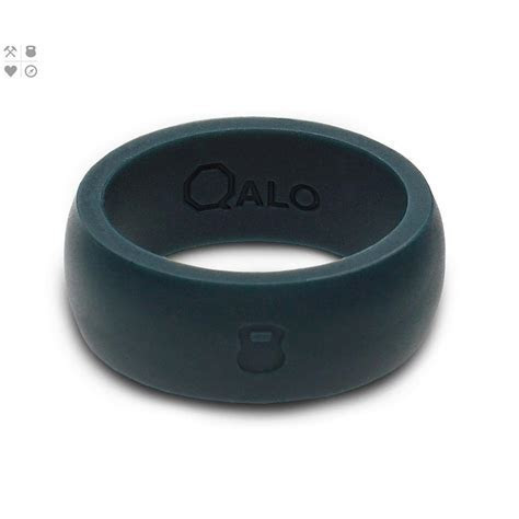 QALO Men?s Slate Grey Classic Silicone Wedding Ring with