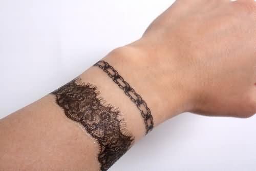 Color Ink Charm Bracelet Tattoo
