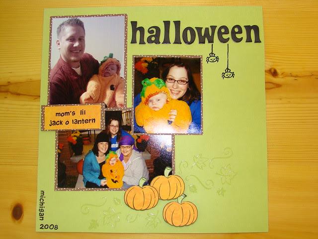 jackson's 1st halloween layout - ls