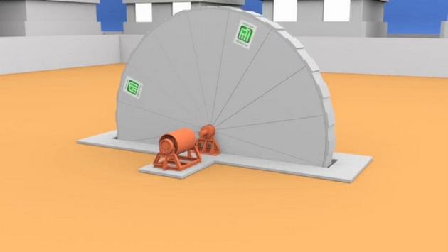 A large metal wheel that can be taken apart in order to facilitate transport produces electricity by rotating driven by an internal fluid, which is expanded by a chemical reaction. Producing 3.5 megawatts, the generator to be sold by Eletro Roda could produce a steady supply of electricity on just 200 square meters of space. Credit: Courtesy of Eletro Roda