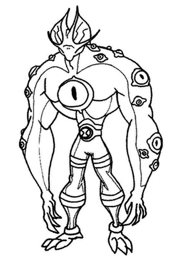 Ben 10 Benmummy Coloring Pages Coloring Pages