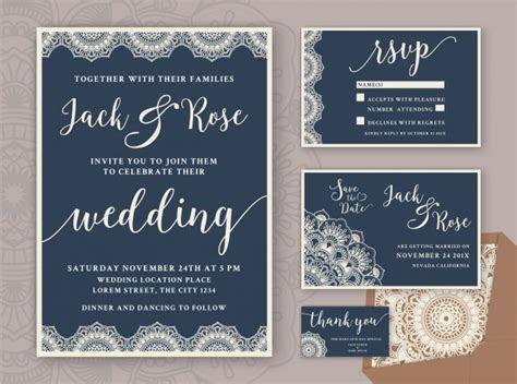 Rustic Wedding Invitation Design Template. Include RSVP