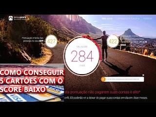 🐢 SCORE BAIXO? COMO CONSEGUI 5 CARTÕES DE CREDITO COM SCORE DE 284! (GUIA COMO AUMENTAR SCORE CPF) 🍒