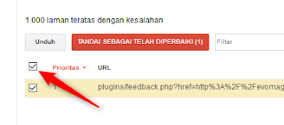Centang URL Error