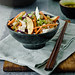 Asian Chicken Red Cabbage and Peach Salad by Meeta K. Wolff