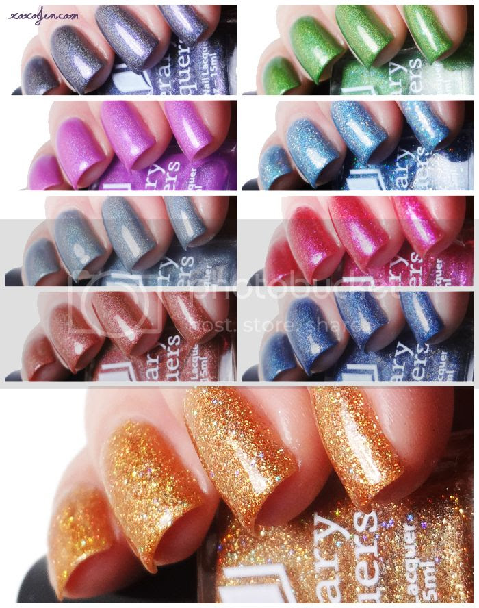 xoxoJen's swatches of 2014 Literary Lacquers Community Collection