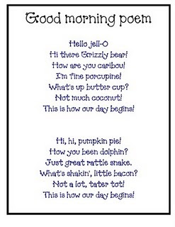 Recite this cute poem each morning to get your students ready for learning.