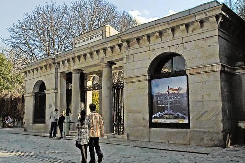 jardín botánico de madrid, puerta de acceso