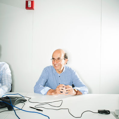Joel Klein at the Amplify offices in Brooklyn.