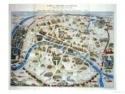 map of paris monuments