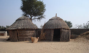 English: A house in the Thar desert.