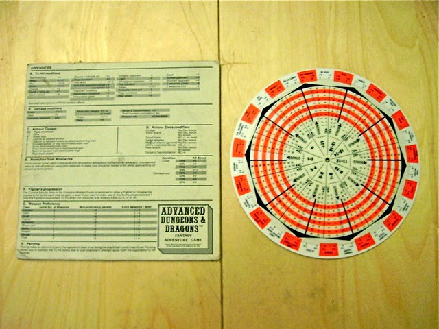 AD&D Fighting Wheel Game Aid #1 - Back