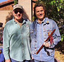 Scott August with Leonard McGann