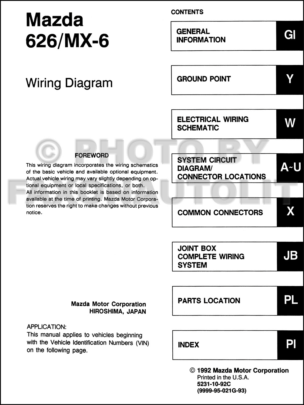 2000 Mazda 626 Radio Wiring Diagram - Wiring Diagram