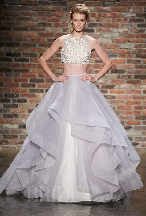 Alternative & Whimsical Two Piece Wedding Gowns
