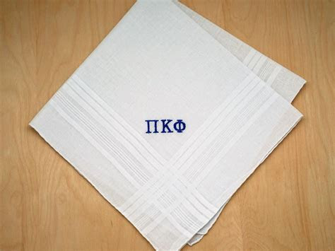 Fraternity Greek Personalized Mens Handkerchief