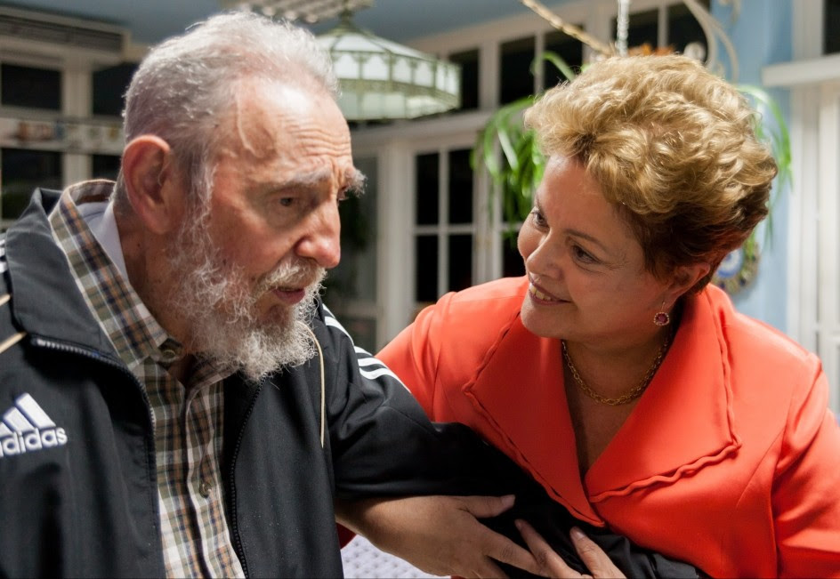 Rousseff visita a Fidel Castro en La Habana