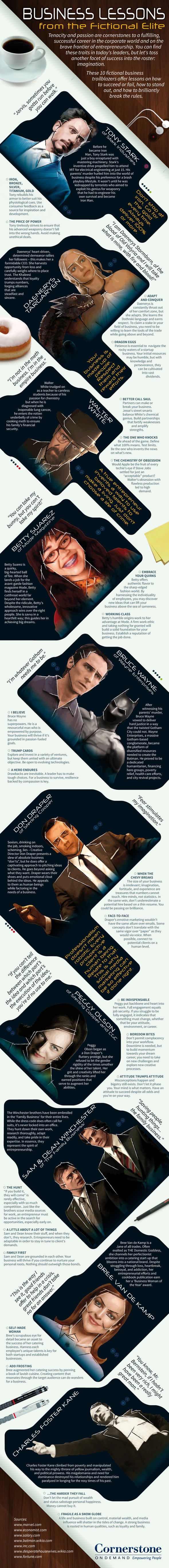 Infographic: Business Lessons from the Fictional Elite