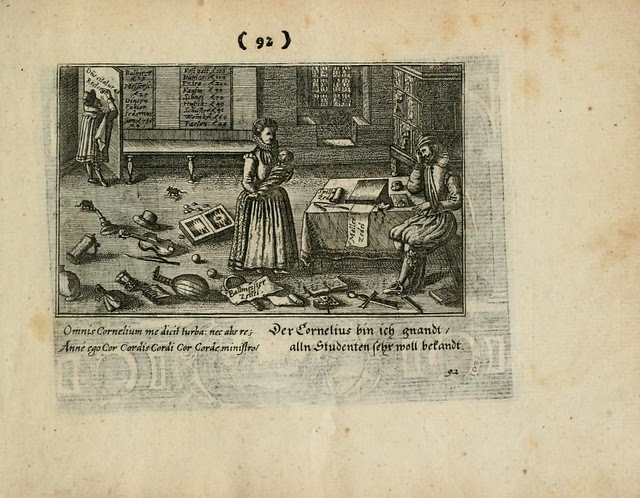 Early modern scene - woman surrounded