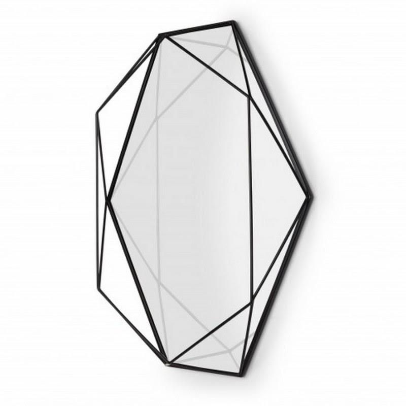 Umbra 358776 040 Prisma Miroir Deco Metal Noir