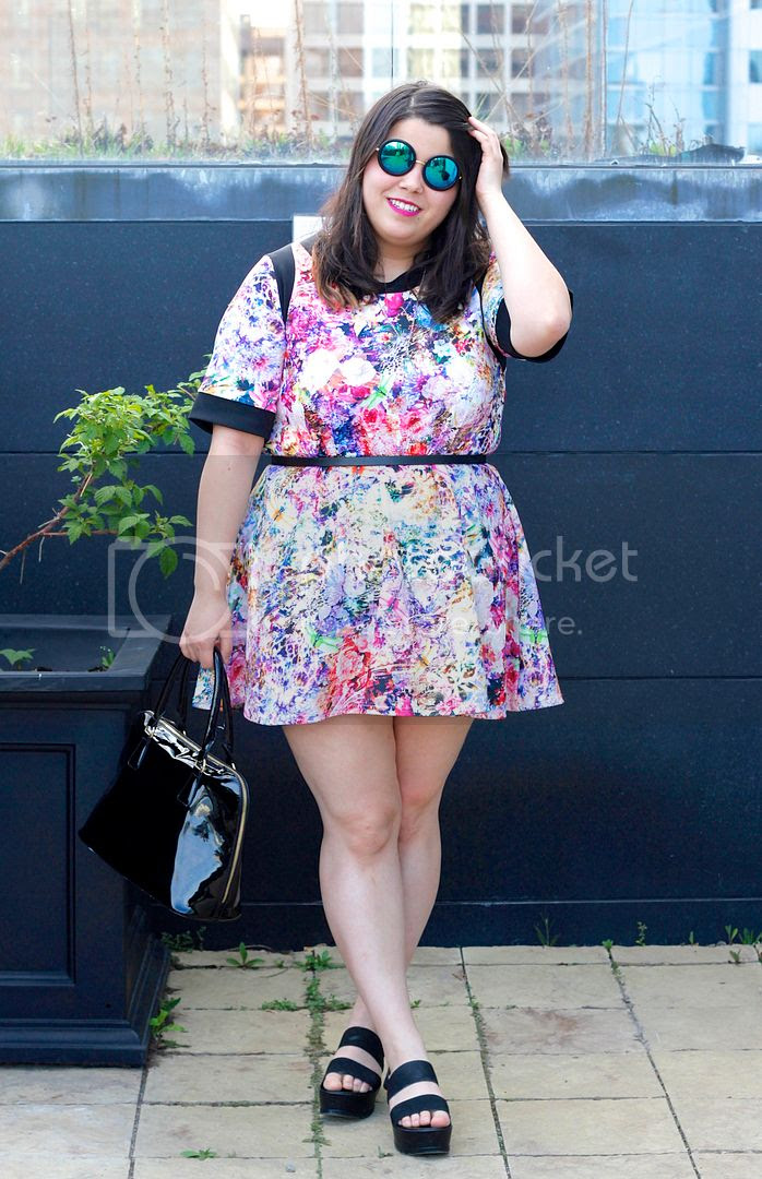 Multicoloured Floral Textured Tunic Yours Clothing plus size fashion plus size floral dress toronto ontario fashion fat fashion plus size spring look