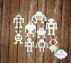 """Коллекция """"Premium"""". Веселые роботы [1] ― Магазин-производство товаров для рукоделия и скрапбукинга."""