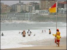 Lifesaver at Bondi Beach, Sydney