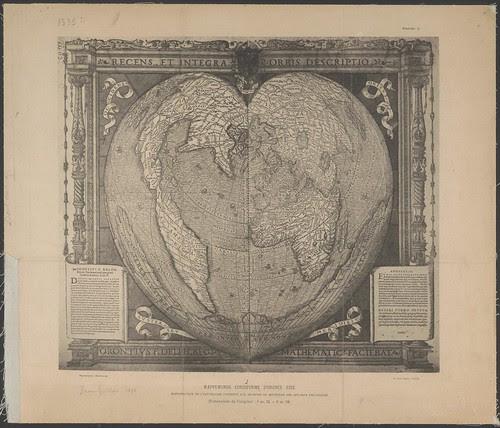 16th century world map - mappa mundi / terra australis