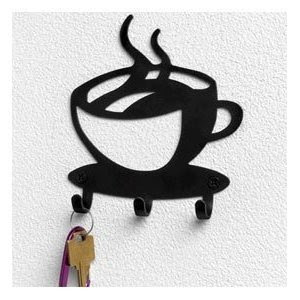 Amazon.com: Spectrum Coffee House Cup Java Silhouette Wall Mounted ...