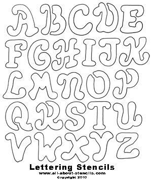 large font letters of alphabet | Free Printable Letter Stencils ...