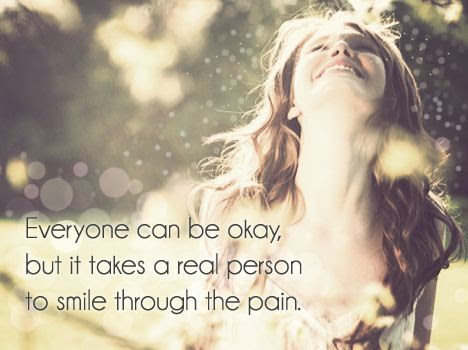 smile through the pain