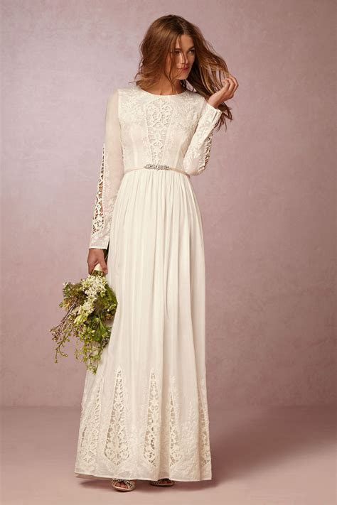 long sleeve bohemian wedding dress   McKenna Day Dress