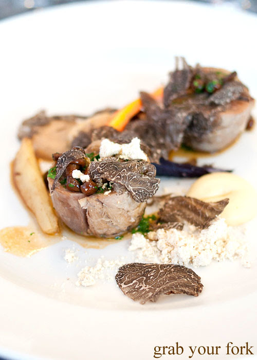 braised veal shank with fresh truffles at dieci e mezzo canberra