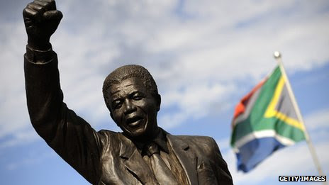Statue of Nelson Mandela at Robben Island