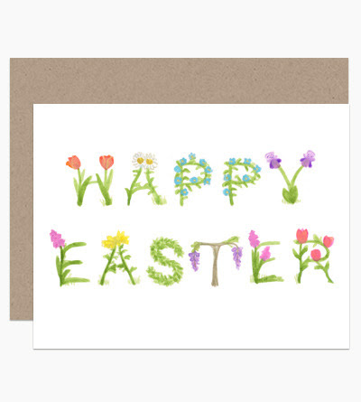 (via Dear Hancock Paper Goods -Easter Flower Text)
