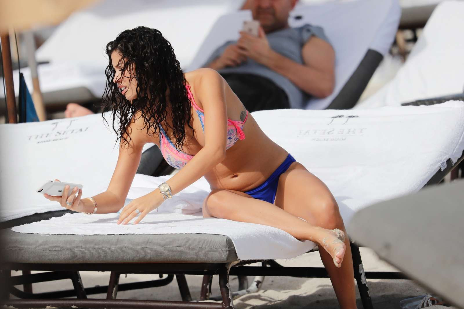 Alexandra Michelle Rodriguez in Bikini on Miami Beach