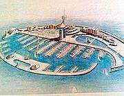 Una riproduzione dell'atollo artificiale