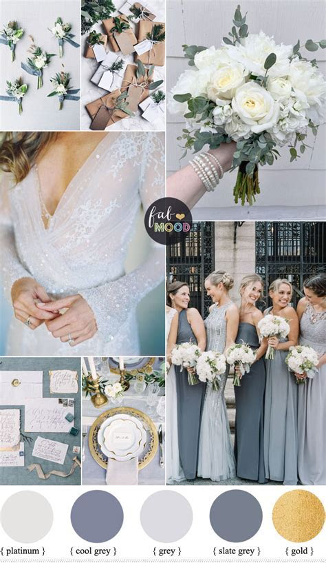Shades of Grey winter wedding color palette   winter