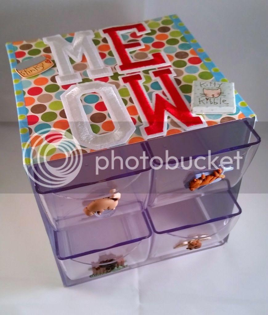 embellished plastic drawers