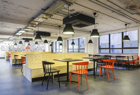 Google UK Campus Canteen by Jump Studios