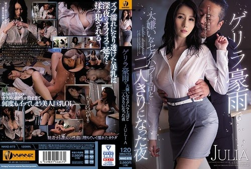 WANZ-973 Guerrilla The Night When I Was Alone With My Boss Who Hates Sexual Harassment Due To Heavy Rain JULIA