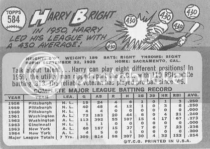 #584 Harry Bright (back)