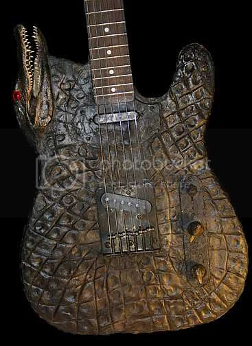 Alligator art guitars from Louisiana
