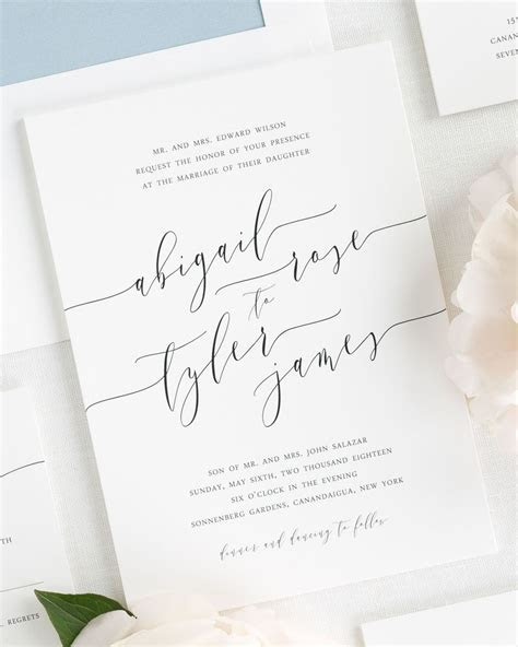 Romantic Calligraphy Wedding Invitations   Member Board